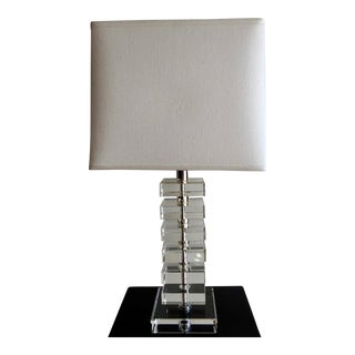 Robert Abbey Vintage Stacked Crystal Table Lamp