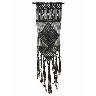 Mid-Century Macramé Vertical Wall Hanging
