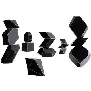Set of 15 Bakelite Geometric Forms, circa 1930