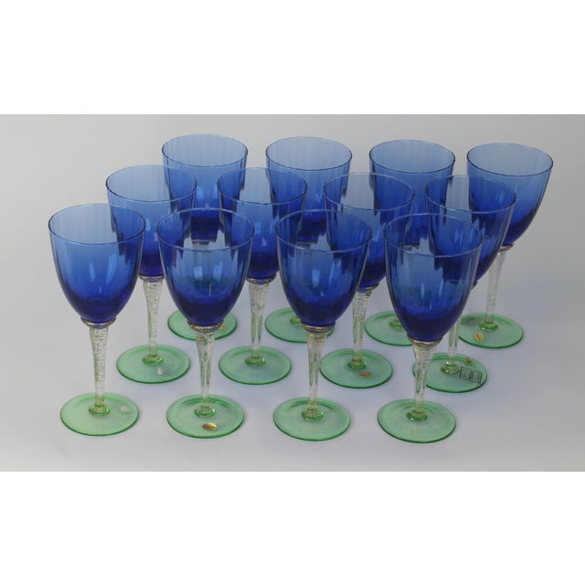 Venetian Glass Wine Goblets - Set of 12 - Image 3 of 6