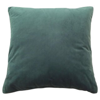 Teal Square Pillow Cover with Insert