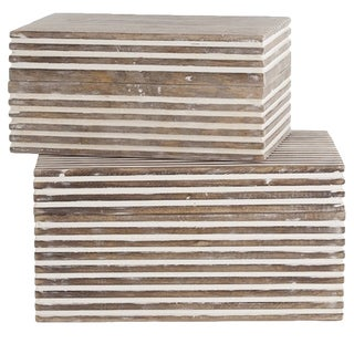 Trinity Small Wooden Boxes- Arteriors