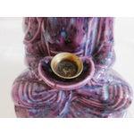 Image of Mid-Century Dripglaze Ceramic Buddha Incense