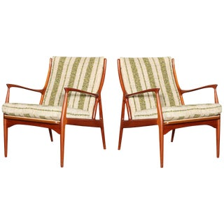 S. A. Andersen Easy Chair Model 70 Horsnaes Chair - Pair