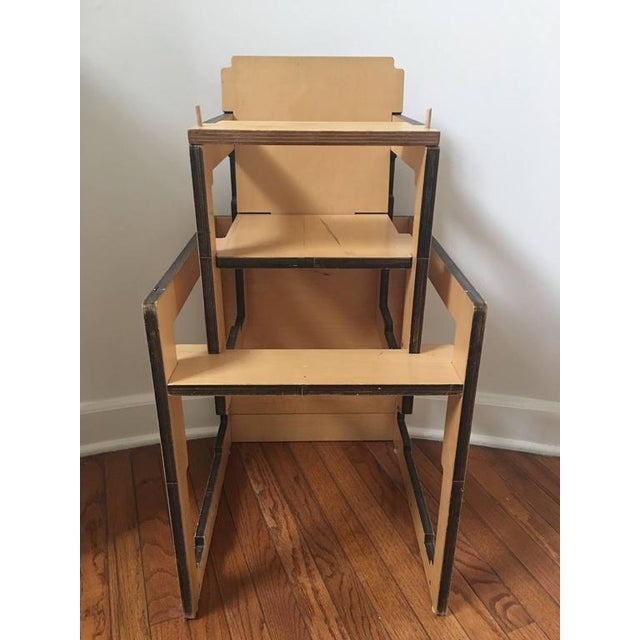 Danish Modern Kid's Convertible High-Chair & Table - Image 4 of 6
