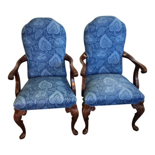 George I Hickory Armchairs - A Pair