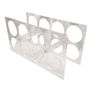 Vintage Clear Acrylic Wine Bottle Rack