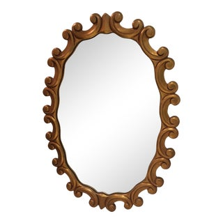 Oval Gold Scroll Mirror