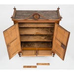 Image of Antique Very Fine French Miniature Carved Fruitwood Armoire or Cupboard, 18th C