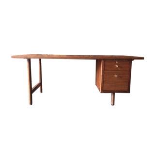 Milo Baughman Mid Century Walnut Desk