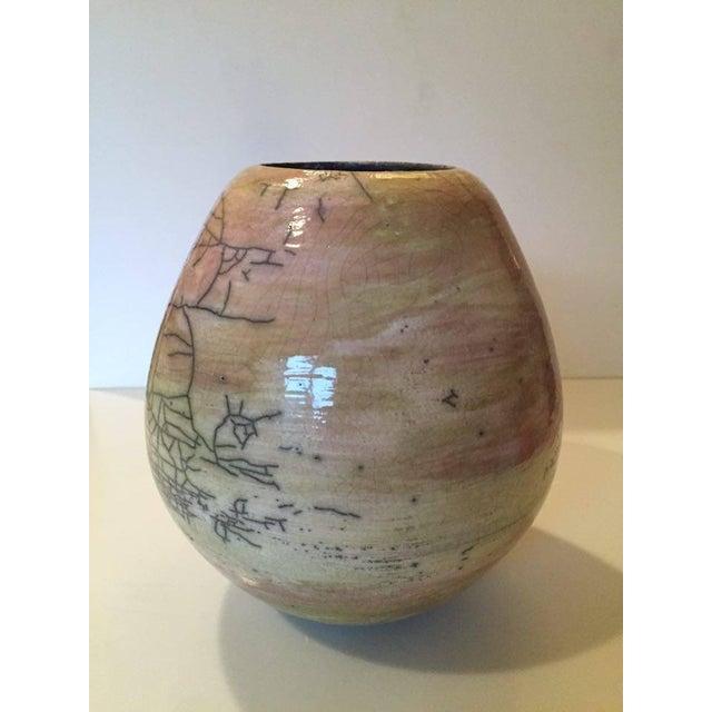Pink Raku Ceramic Pot - Image 4 of 5