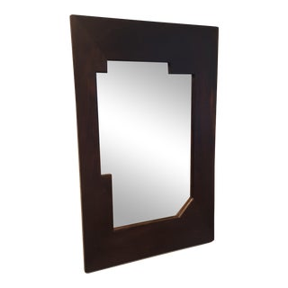 1920s Petite Bauhaus Era International Style Rosewood Wall Mirror