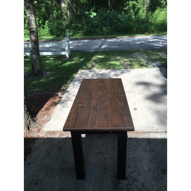 solid wood dark stain dining table chairish