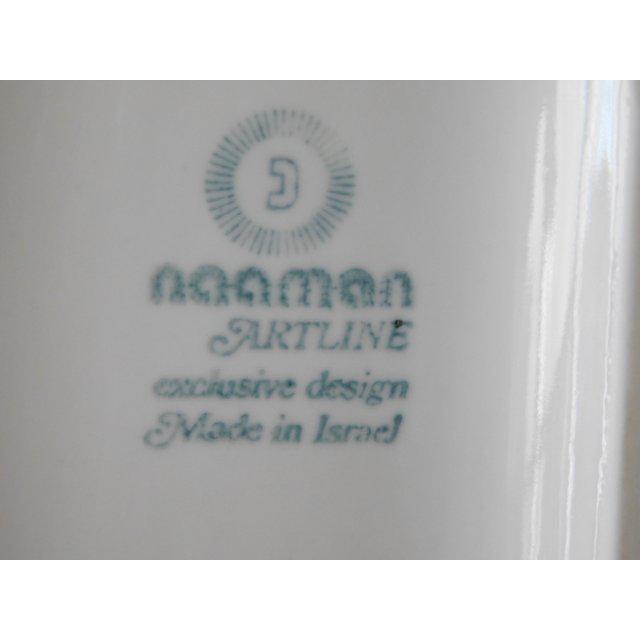 White Modernist Bisque Porcelain Naaman Onion Vase - Image 8 of 11