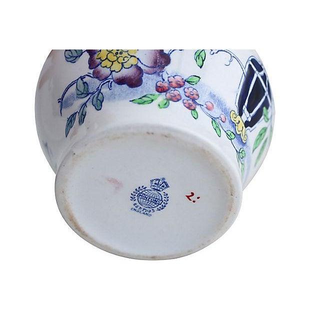 Antique Minton's Floral Jug - Image 3 of 3