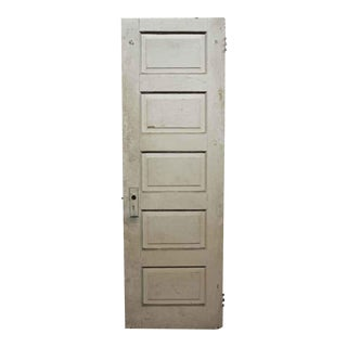 Antique Five Panel Wood Door