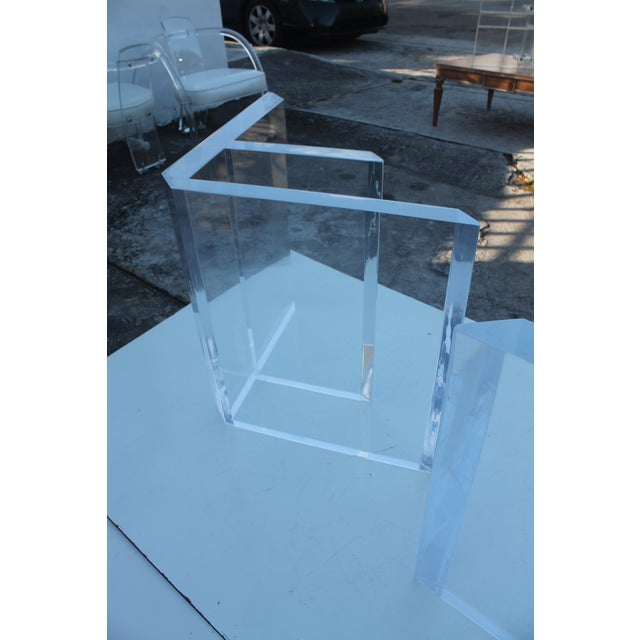 Sculptural Lucite & Glass Dining Table - Image 3 of 11
