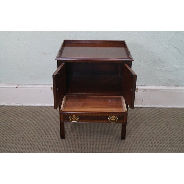 Drexel Heritage Chippendale-Style Nightstand - Image 2 of 10