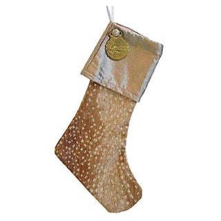 Christmas Stocking with Brass Medallion