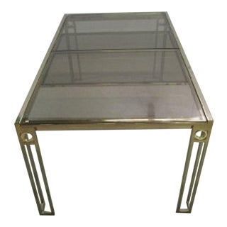 Mid-Century Modern Smoked Glass Table