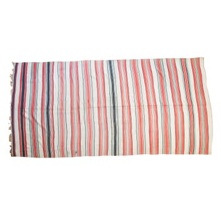 "Vintage Red Stripe Kilim Rug - 6'3"" x 13'"