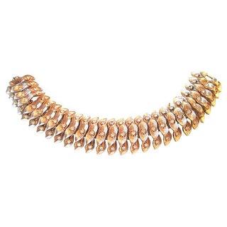 Brushed Goldtone Leaf Bracelet