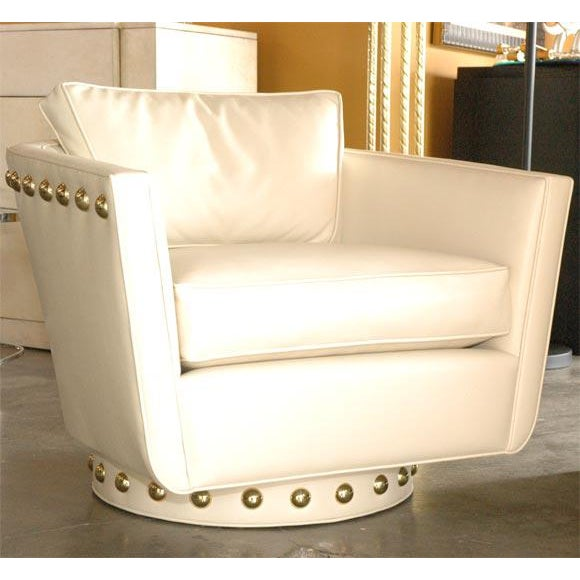 Customizable Paul Marra Swivel Lounge Chair - Image 2 of 10