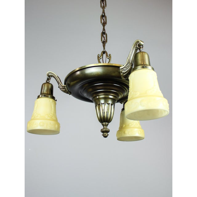 Antique Sheffield Light Fixture (3-Light) - Image 4 of 10