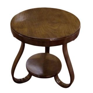 1930s Polished Round Tripod Side Table, Austria