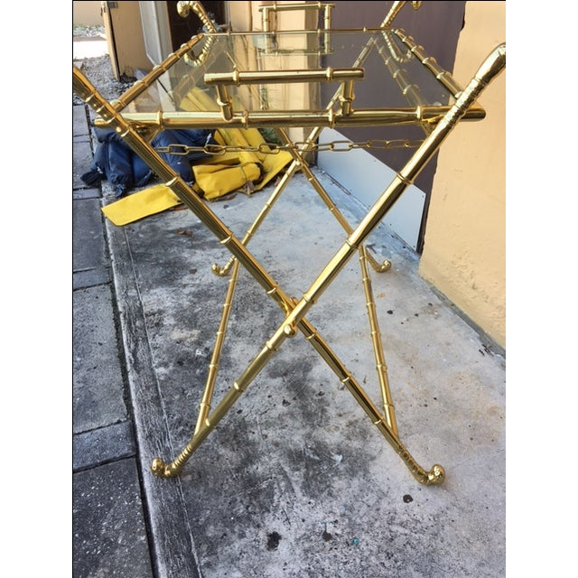Contemporary Brass Bar Table - Image 4 of 8