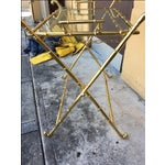 Image of Contemporary Brass Bar Table