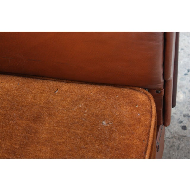 French Deco Leather and Mohair Daybed - Image 9 of 11
