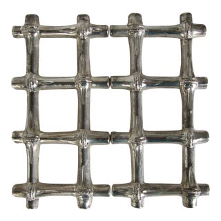Silver Plate Bamboo Expandable Trivet
