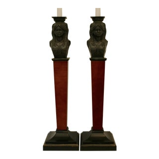 Maitland Smith-Style Candle Holders - A Pair