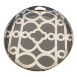 Image of Contemporary Gray, White & Gold Hand-Painted Tray