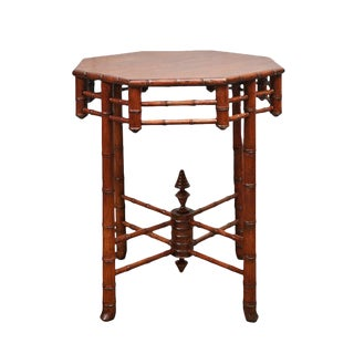 Octagonal Faux Bamboo Table