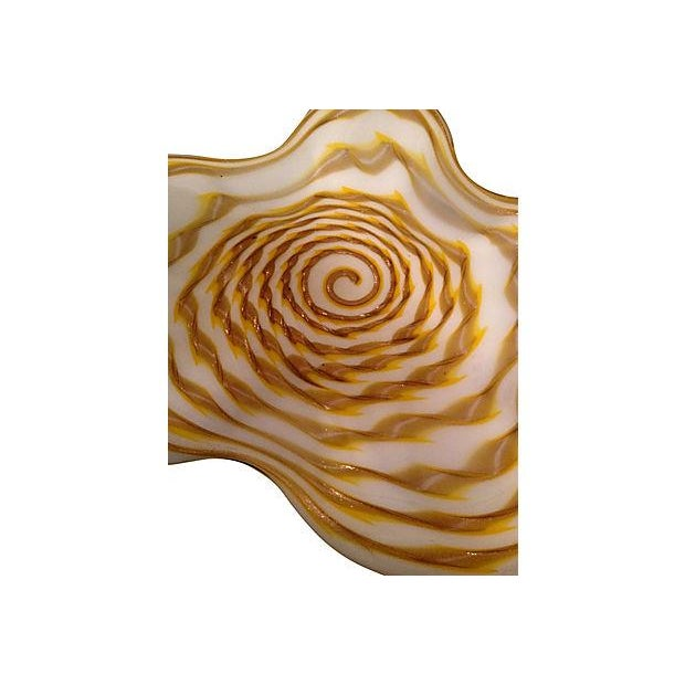 Hand Blown Footed Glass Dish - Image 5 of 5