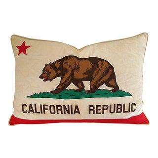 Jumbo California Republic Bear Flag Feather/Down Pillow