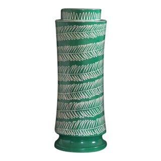 1950 Waylande Gregory Mid Century Modern Grass Green Ceramic Pottery Lamp Base