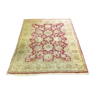 Kashan Hand Knotted Rug - 4′11″ × 6′10″