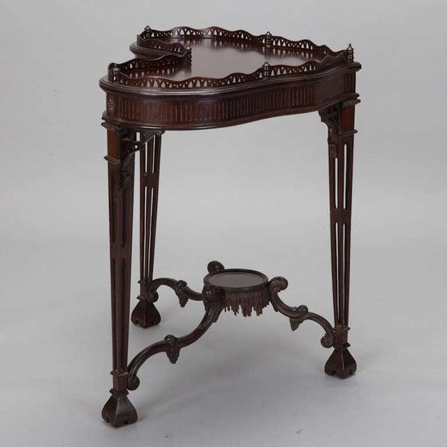 Antique Mahogany Irish Heart-Shaped Side Table - Image 3 of 6