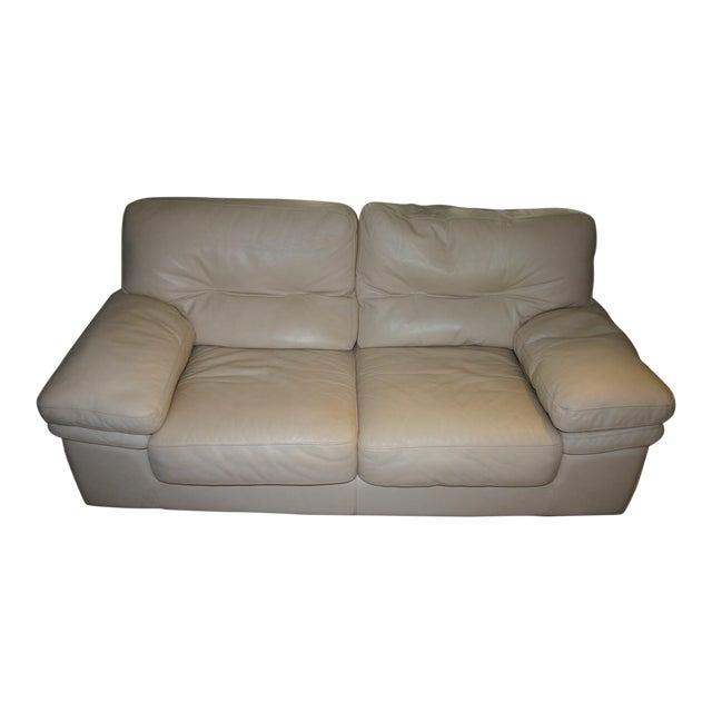 Leather roche bobois 2 seat sofa chairish for Roche bobois italia