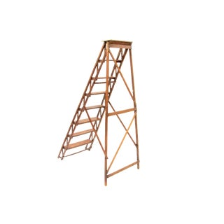 Antique Ladder w/ Architectural Crossbars