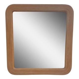Gabriella Crespi Style Rattan Wall Mirror