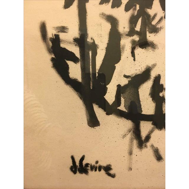 Jack Levine Cubist Ink Painting - Image 5 of 5