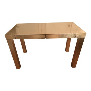 West Elm Parsons Desk in Champagne