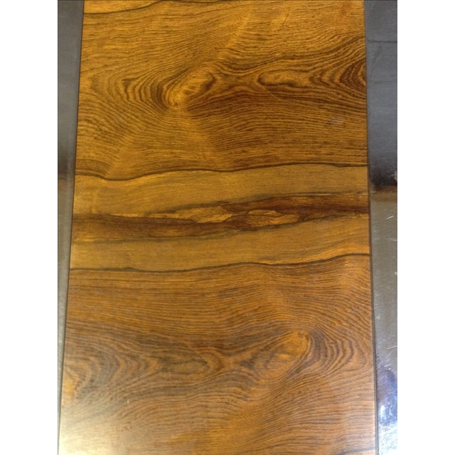 Milo Baughman Rosewood And Chrome Side Table - Image 6 of 6