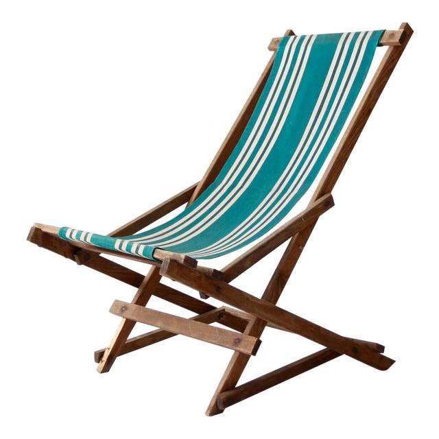 Vintage American Deck Chair - Image 1 of 9