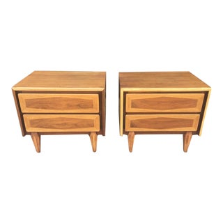 American of Martinsville Wood Nightstands - A Pair