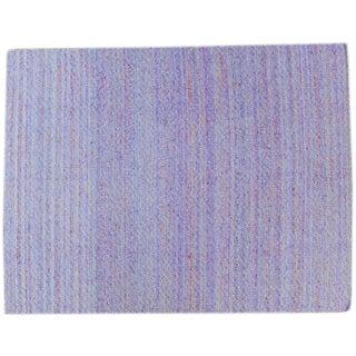 Indian Silk & Cotton Flatweave Rug